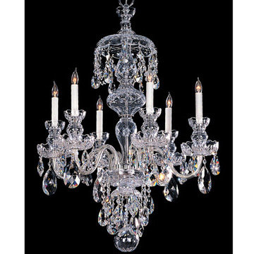 Crystorama Traditional Crystal Collection 6 Light Chandelier