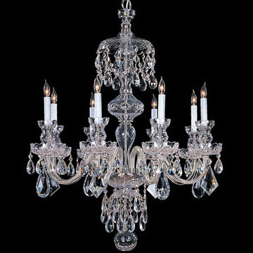 Crystorama Traditional Crystal Collection 8 Light Chandelier