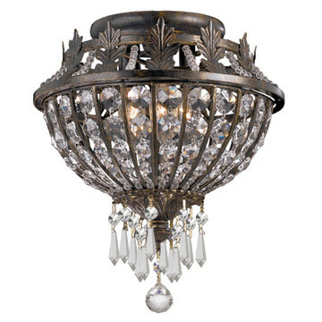 Crystorama Vanderbilt Collection 3 Light Flush Mount