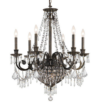 Crystorama Vanderbilt Collection 6 Light Chandelier