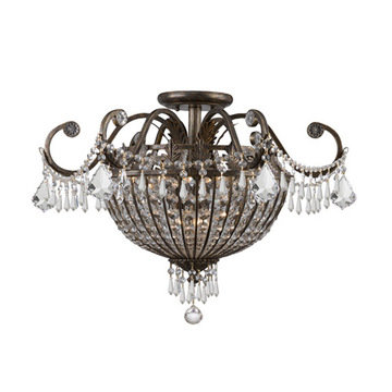 Crystorama Vanderbilt Collection 6 Light Semi Flush Mount