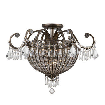Crystorama Vanderbilt Collection 9 Light Semi Flush Mount
