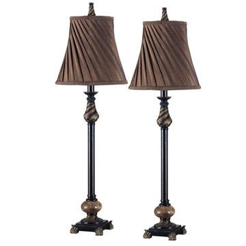 Kenroy Home Aruba Buffet Lamp 2-Pack