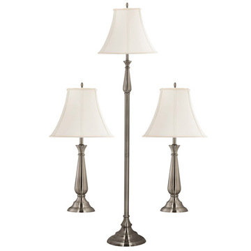 Kenroy Home Banister 3-Pack - 2 Table Lamps, 1 Floor Lamp