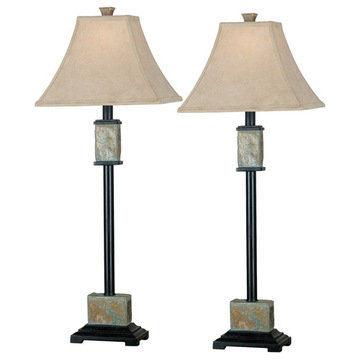 Kenroy Home Bennington Buffet Lamp 2-Pack