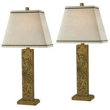 Kenroy Home Botanica 2-Pack Table Lamp