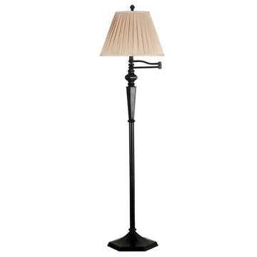 Kenroy Home Chesapeake Swing Arm Floor Lamp