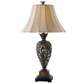 Kenroy Home Iron Lace Table Lamp
