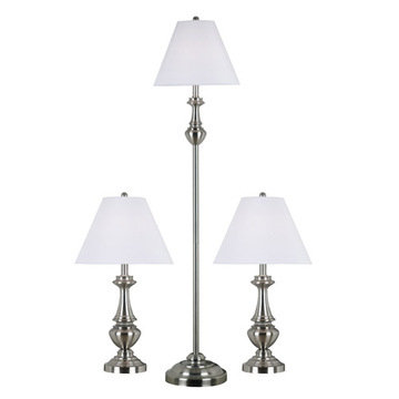 Kenroy Home New Hope 3-Pack - 2 Table Lamps, 1 Floor Lamp