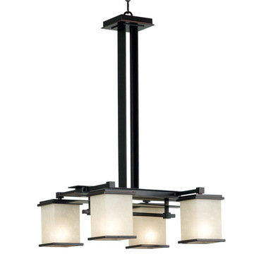 Kenroy Home Plateau 4 Light Chandelier