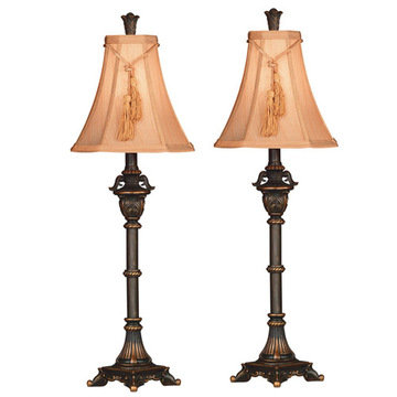 Kenroy Home Rowan Buffet Lamps 2-Pack
