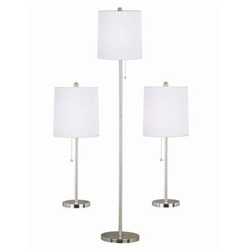 Kenroy Home Selma 3-Pack - 2 Table Lamps, 1 Floor Lamp
