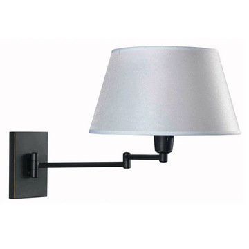 Kenroy Home 30110BRZ Simplicity Wall Swing Arm Lamp