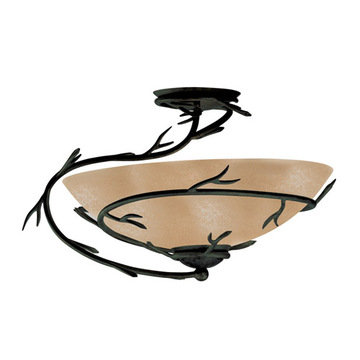 Kenroy Home Twigs 1 Light Semi-Flush