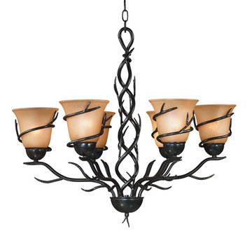 Kenroy Home Twigs 6 Light Chandelier