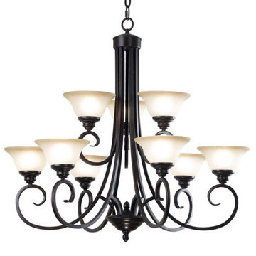 Kenroy Home Welles 9 Light Chandelier