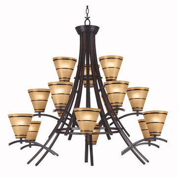Kenroy Home Wright 15 Light Chandelier