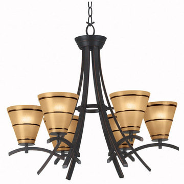Kenroy Home Wright 6 Light Chandelier