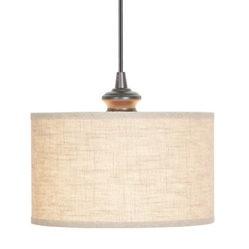 Worth Home Linen Drum Instant Pendant Light