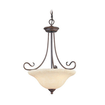 Livex Lighting Coronado 3 Light Inverted Pendant Light