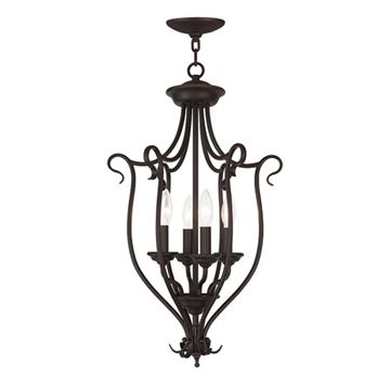 Livex Lighting Coronado 4 Light Foyer Lamp