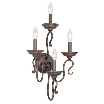 Livex Lighting Coronado 4 Light Wall Sconce