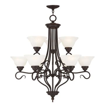 Livex Lighting Coronado 9 Light 31 Chandelier