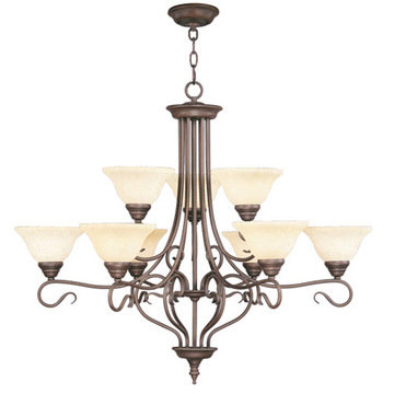 Livex Lighting Coronado 9 Light 38 Chandelier