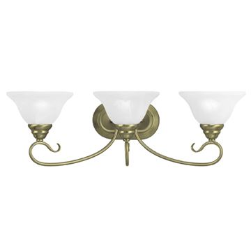 Livex Lighting Coronado Scroll 3 Light Vanity Light