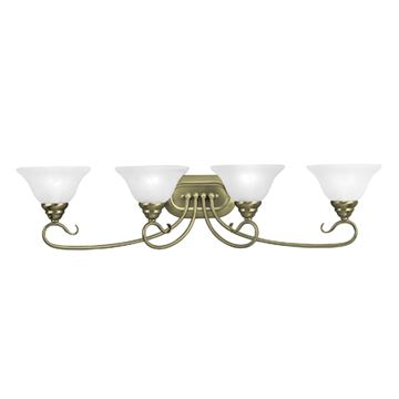 Livex Lighting Coronado Scroll 4 Light Vanity Light