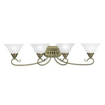 Livex Lighting Coronado Scroll 4 Light Vanity Light