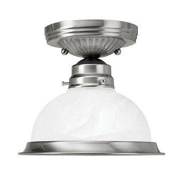 Livex Lighting Home Basics 1 Light Semi Flush Ceiling Light