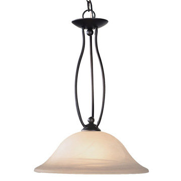 Livex Lighting Home Basics 1 Light Tall Pendant Light