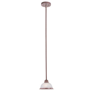Livex Lighting Home Basics 1 Light Weathered Brick Mini Pendant Light