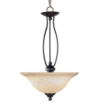 Livex Lighting Home Basics 2 Light Inverted Pendant Light