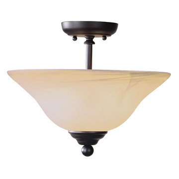 Livex Lighting Home Basics 2 Light Semi Flush Mount Light