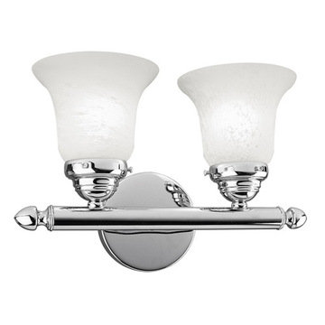 Livex Lighting Home Basics 2 Light Vanity Light With Round Back Plate