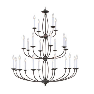 Livex Lighting Home Basics 24 Light Chandelier