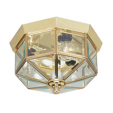 Livex Lighting Home Basics 3 Light Hexagonal Ceiling Mount Light