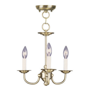 Livex Lighting Home Basics 3 Light Mini Chandelier