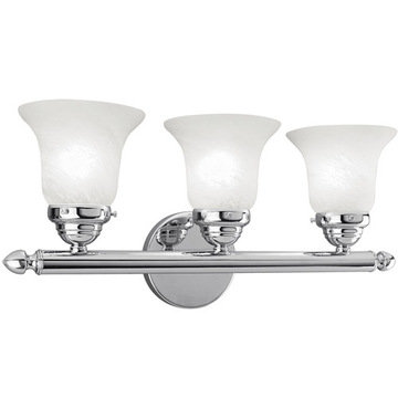 Livex Lighting Home Basics 3 Light Vanity Light With Round Back Plate