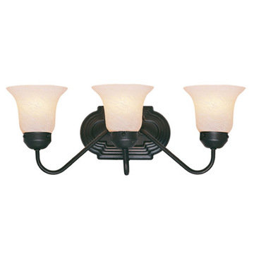 Livex Lighting Home Basics 3 Light Vanity Light With Short Back Plate