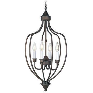 Livex Lighting Home Basics 4 Light Foyer Lamp