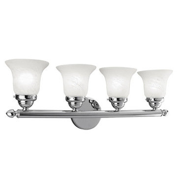 Livex Lighting Home Basics 4 Light Vanity Light With Round Back Plate