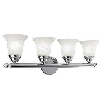 Livex Lighting Home Basics 4 Light Vanity Light with Round Back Plate