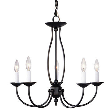 Livex Lighting Home Basics 5 Light 24 Candelabra Chandelier