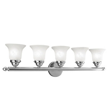 Livex Lighting Home Basics 5 Light Vanity Light With Round Back Plate
