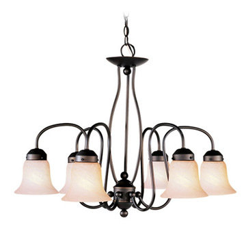 Livex Lighting Home Basics 6 Light Chandelier