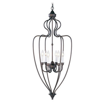 Livex Lighting Home Basics 6 Light Foyer Lamp