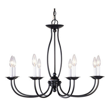 Livex Lighting Home Basics 8 Light Chandelier